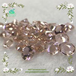 Del MgO del commercio all'ingrosso globale della gemma 7mm pietre preziose preziose Nano del tondo/di Nanosital sintetiche allentate Morganite