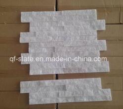 中国の自然なZ形の機能壁のための白い珪岩のクラッディングの石