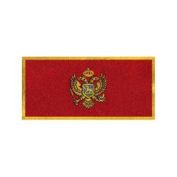 Los bordados de alta calidad Montenegro Bandera Nacional plancha sobre Parche para las prendas de vestir