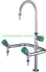 جودة عالية 3 منافذ ماء الحنفية من الفولاذ المقاوم للصدأ ثلاث اتجاهات صنبور الماء للاستخدام في المختبر للطاولة