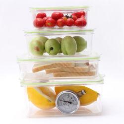 Sin BPA Fiambrera de plástico contenedor vacío para el almacenamiento de la conservación de alimentos