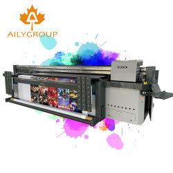 Máquina de impresión digital plana UV Impresora de inyección de tinta de gran formato híbrido con cabeza de G5 Richo