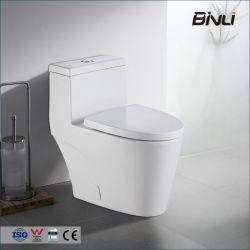 Sanitary Ware Wholesale WC Tornado S Trap 300mm una pieza Baño alargado Aseo de cerámica con asiento UF