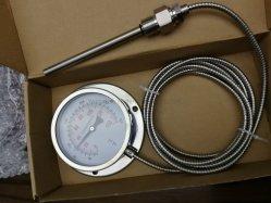 파이프라인에 대한 조정식 포인터 가스 온도계 온도 표시기