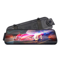 Zwarte doos van de Auto van de Camera van de Mening van het Scherm van de Aanraking van de Monitor van het Parkeren van 9.66 Duim de Achter