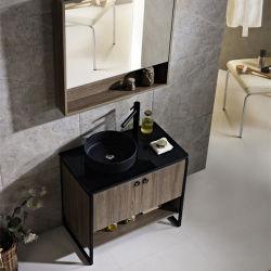ホテルデザイン別の洗面器(2014B)との木カラー浴室の虚栄心