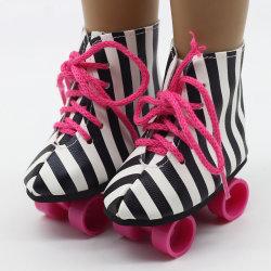 Yosi Spielzeug New Style American Girl 18 Zoll 45cm Roller Schlittschuhe Puppenschuhe