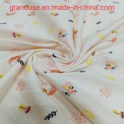 Impreso de Single Jersey jersey de algodón orgánico Kidswear Jersey vestidos para niñas muy suave Handfeel