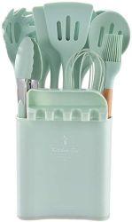 실리콘 주방 도구 모음 가정용 주방 도구 및 보관용 버킷