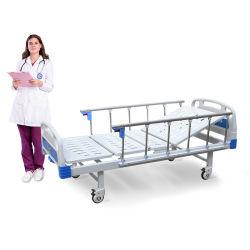A1K Metal Dobra Única função clínica MOBILIÁRIO MÉDICO Enfermagem Manual Ajustável cama hospitalar com rodízios