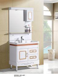 مصنع الصين ينتج الخشب الرقائقي PVC MDF الحمام خزانة جميع تخصيص تركيب بسيط خزانة المطبخ من نوع جديد