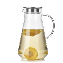 أكواب زجاجية من بوروسيليكات مقاومة للحرارة، وعاء زجاجي من الكettle Glass، لمدة قهوة الشاى المائية