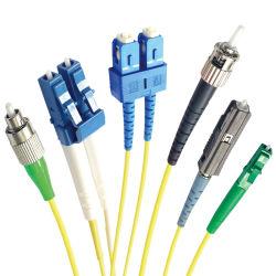 Simplex / Duplex Sc LC FC St MTRJ Mu Upc/APC cabos ópticos cabe de modo único cabo de fibra óptica