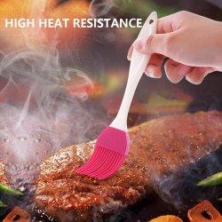 Barbecue dello spalmatore dell'olio della spazzola della torta della pasticceria del silicone che unge la spazzola dei dispositivi del BBQ della cucina degli strumenti
