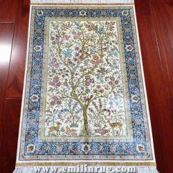 生命デザイン東洋のペルシャのハンドメイド手によって結ばれる絹のカーペットの壁掛けの敷物のタペストリーの3.3X5木