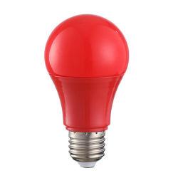 مصباح LED المنزلي الموفر للطاقة E27، سبعة ألوان صغيرة مصباح بقوة 1 واط و7 واط باللون الأحمر الأصفر والضوء الأخضر المصباح