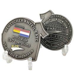 高品質のカスタム3D金属のクラフトドイツSouvenri硬貨海軍チリ私達あなた専有物の軍の警察官の挑戦硬貨デザイン