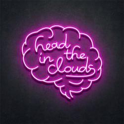 Acrylzeichen-elektronischer kundenspezifischer Kopf im Wolken-Neonzeichen-LED kundenspezifischen nahen Licht