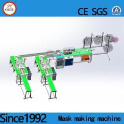 Totalmente Automática 3 descartáveis de alta velocidade da correia de Orelha Earloop Ply Nonwoven Dobrável e máscara cirúrgica Médica Máquina de Produção de Fabricação