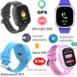 Alerta de extracción de GPS Tracker Personal reloj con IP67 Resistente al agua D15W