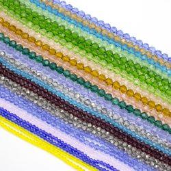 Hochwertige lose Kristallraupen 4-10mm stellten Glasraupe-runde Kristallraupen gegenüber