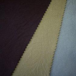高品質卸売価格のウーブンブラック 100% PU 衣料レザー ファブリック