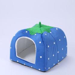 Goedkope Strawberry Shape Dog Kennel Indoor zacht Pet Cushion Nest/Bed /Huis pluche Pet Nest