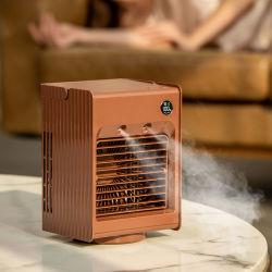 Amazon best-seller Brouillard d'eau de refroidissement de pulvérisation de bureau fonctionne sur batterie mini USB à l'embuage ventilateur humidificateur à ultrasons portable