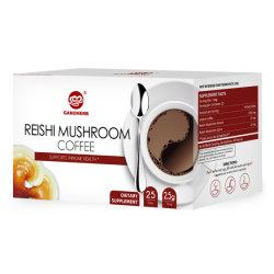 Cogumelo Ganoderma café instantâneo café preto com extrato de Reishi