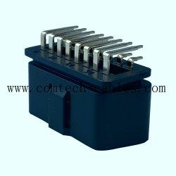 Универсальный J1962 OBD2 вилочной 90 ° разъем 16-контактный автомобилей диагностика неисправности щитка приборов разъем acc черная линия питания Понижающие стабилизаторы линии