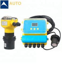 Китай производитель ультразвуковой датчик уровня 4-20 Ма измеритель уровня резервуара для воды цифровой ЖК-дисплей