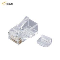 UTP 8p8c 인서트 커넥터 비차폐 캐터입니다. 5e/CAT6/Cat. 6a RJ45 모듈식 플러그