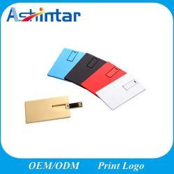 메탈 USB2.0 플래시 디스크 신용 카드 USB 플래시 드라이브 알루미늄 USB 펜 드라이브