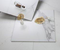 600X600/blanco de Carrara Calacatta Artificial /piedra de cuarzo de ingeniería de suelos de mármol azulejos de pared