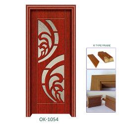 ルーマニアの熱い販売PVC上塗を施してある木製のドア内部PVC木製MDFのドア