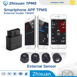 Мобильный телефон Bluetooth TPMS APP дисплей системы контроля давления в шинах 4 внешних датчиков СКДШ Интерфейс бортовой системы диагностики для автомобиля система подачи сигналов тревоги