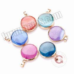 Colgante de Ágata grietas naturales de piedras preciosas perlas de Ronda PARA REALIZAR BISUTERÍA
