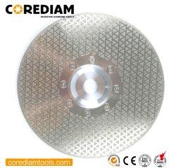 230mm Electroplated de broyage et de diamant avec la bride de lame de coupe
