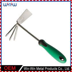 カスタマイズされた金属製庭製品プラスチックハンドル二重庭工具