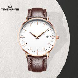Horloge van de In het groot van het Leer van het Embleem van de douane het Automatische Mechanische Mensen van de Riem (72744)