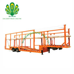 China Double-Deck Transporte veículo transportador de automóveis semi reboque