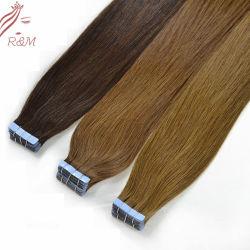 مصنع Qindao الشعر الروسي ريمي الإنسان شريط قذف الجلد في الشعر