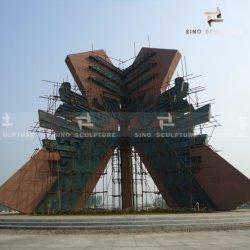 ランドマークとしての大型のモダンなブロンズ彫刻