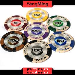 Metteのステッカーのカジノの粘土が付いている高品質14Gの粘土のポーカー用のチップはYm-Cy01を欠く