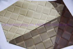 Bl1887 Mate el patrón de tejido PVC cuero para calzado de hombre