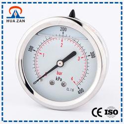 Medidor de Presión de Aceite Pequeña Líquido Con Aceite Manómetro del Agua
