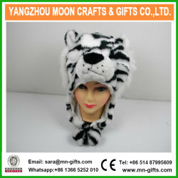 Tigre de chapeau de fourrure des animaux en peluche avec Earflap