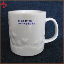 L'allégement de la mode style tasse à café de grès gaufré promotionnelle