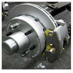 2000kg Disque de frein hydraulique de remorque avec traitement de l'essieu de torsion Dacromet