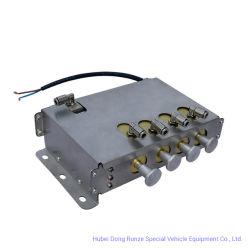 Speed 5 Km Pneumática Automática do Bloco de Controle do Sistema de Controlo Inteligente de Desligamento de Emergência (Válvulas do Tanque de Combustível de alumínio Caminhão 2-4 compartimentos com GPS)